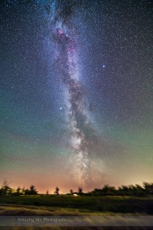 Milky Way over Harvest Field (Sept 4, 2013)
