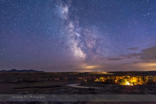 Milky Way over Writing-on-Stone Park (Sept 1, 2013)