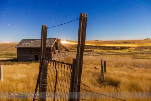 Pleiades Through the Old Farm Gate