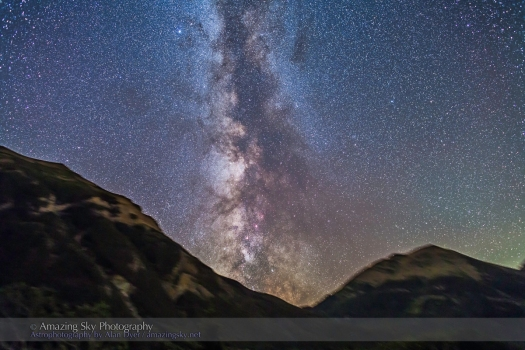 Summer Milky Way over Mountains (Aug 31, 2013)