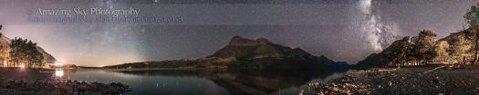 Waterton Lakes Night Panorama #1 (Aug 31, 2013)