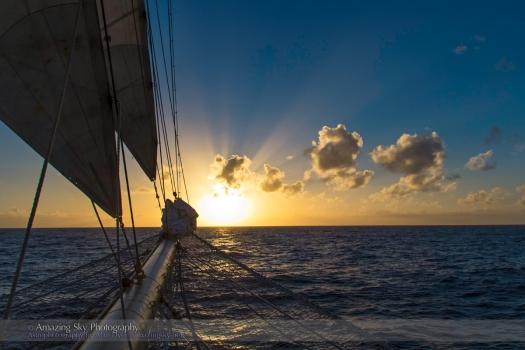 Cloud Shadows Near Sunset over the Atlantic