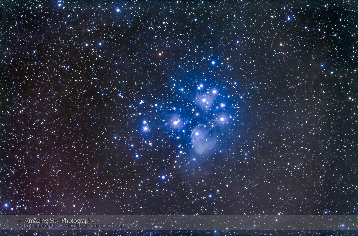 M45, the Pleiades Cluster (92mm 5DII)