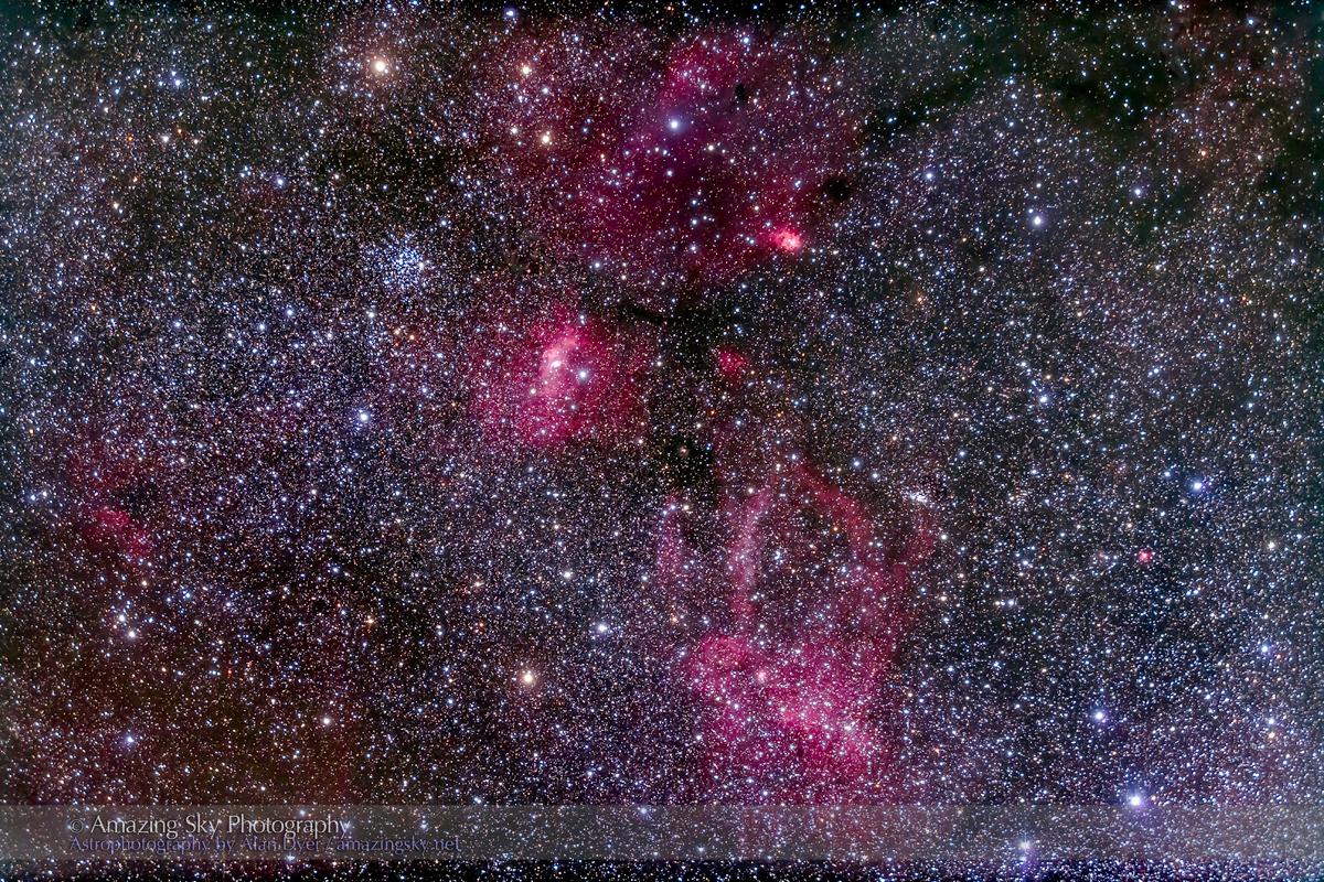M52 & NGC 7635 Bubble Nebula (92mm 5DII)