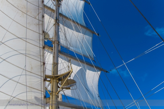 Moon Amid the Rigging