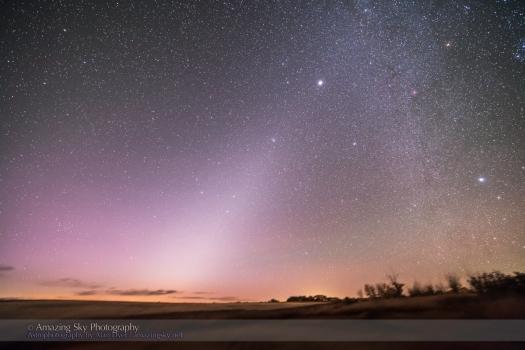 Zodiacal Light in Dawn Sky (Oct 2013)