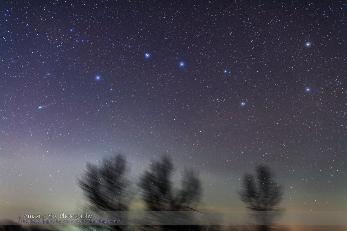 Comet Lovejoy & Big Dipper (Nov 27, 2013)