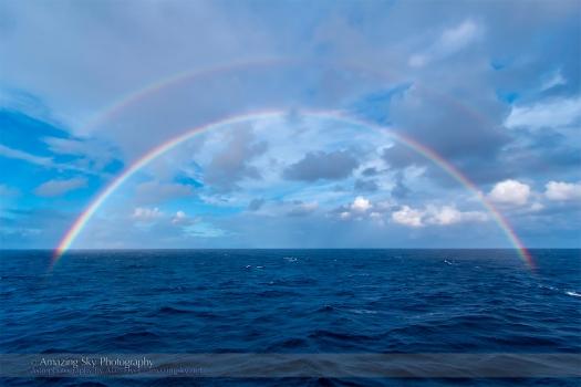 Double Rainbow over the Atlantic Ocean (Nov 3, 2013)