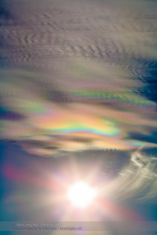 Iridescent Clouds at White Sands #1