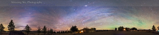 New Mexico Pre-Dawn Skyglow Panorama (Dec 2013)