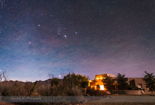 Orion Rising over Adobe House v2 (New Mexico)
