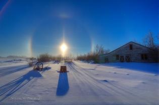 Solar Halo and Sundogs (Dec 19, 2013) #1
