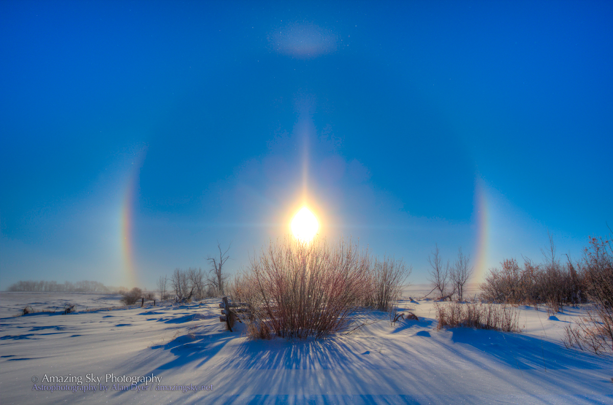 Solar Halo In A Cold Blue Sky The Amazing Sky