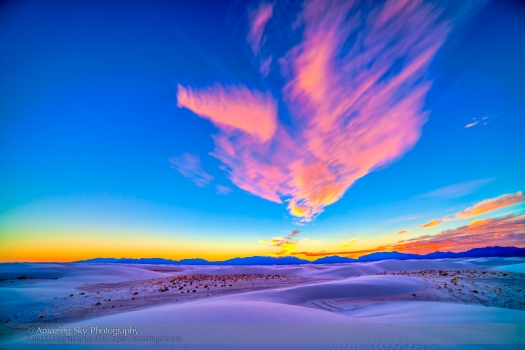 Sunset at White Sands, New Mexico (Dec 10, 2013)