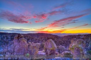 Sunset in the Chiricahuas, Arizona (Dec 3, 2013)