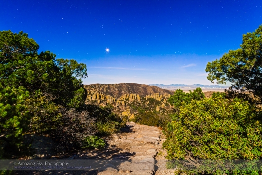 Venus at Chiricahua National Monument (Dec 15, 2013) #3