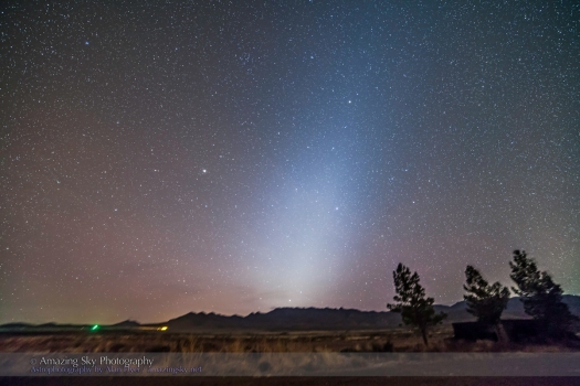 Zodiacal Light at Dawn from New Mexico (Dec 2013)