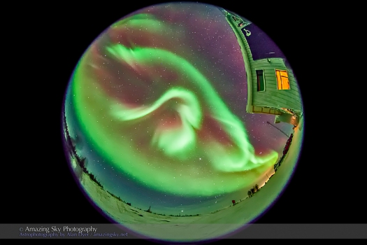 Aurora - Feb 3-4, 2014 (Fisheye #1)