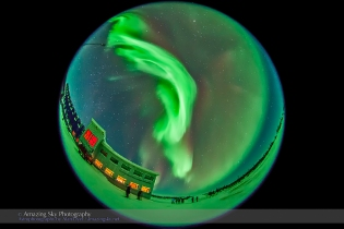 Aurora - Feb 3-4, 2014 (Fisheye #3)