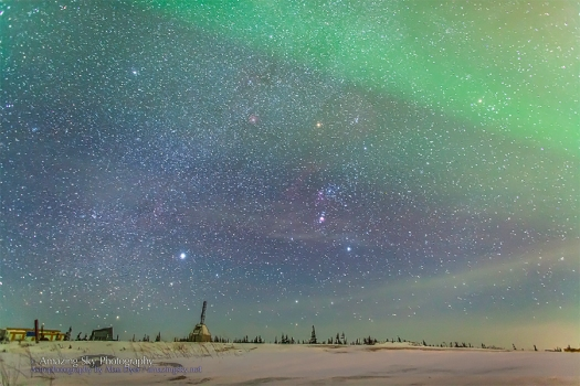 Orion over the Churchill Rocket Range
