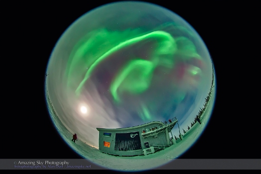 Aurora - Feb 7, 2014 (Fisheye #3)