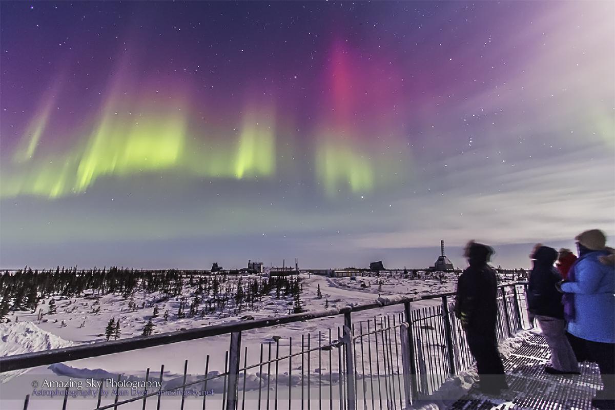 Aurora - Feb 7, 2014 (Observers on the Deck)