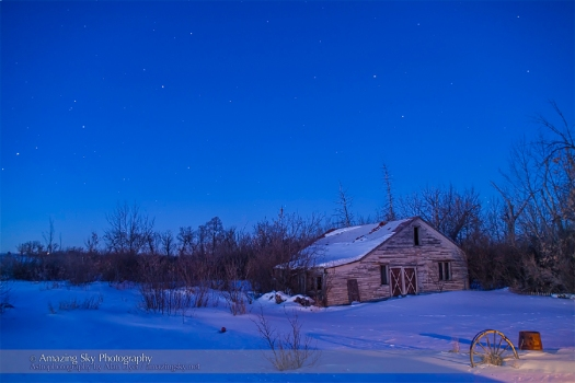 Mars and Saturn in the Winter Dawn (Feb 26, 2014)
