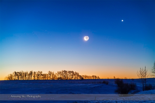Moon & Venus Conjunction (Feb 26, 2014)