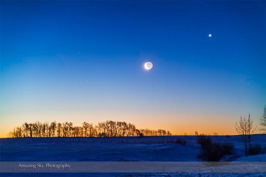 Moon & Venus Conjunction (Feb 26, 2014)