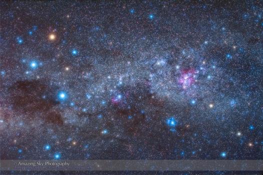 Southern Cross and Carina Nebula (50mm 60Da)