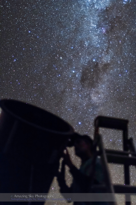 Observer & Telescope at OzSky Star Party #4 (March 2014)