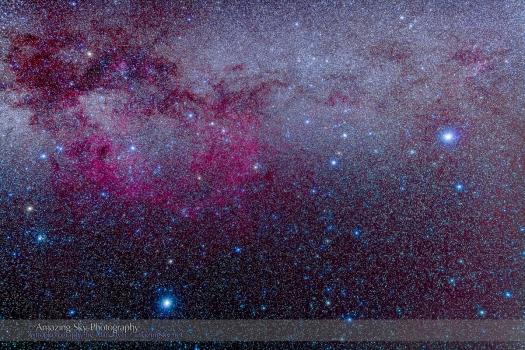 Sirius, Canopus & Gum Nebula (35mm 5DII)