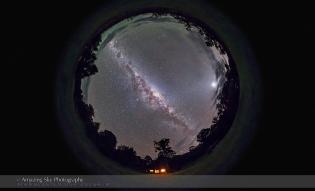 Two Styx Night Sky Panorama (Fish-Eye)