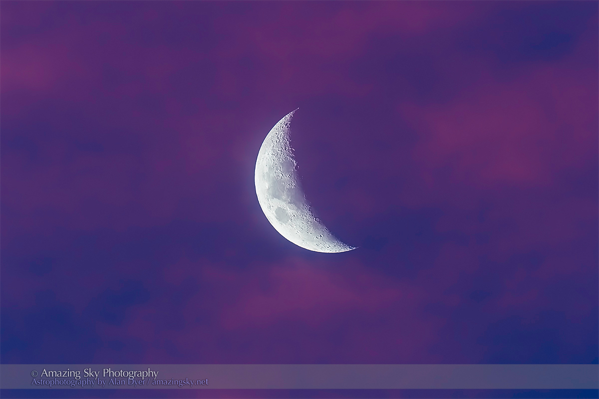Waxing Moon in Pink Clouds #1 (Oz April 5, 2014)