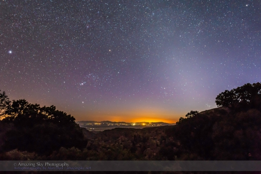 Orion Setting & Zodiacal Light (24mm 6D)