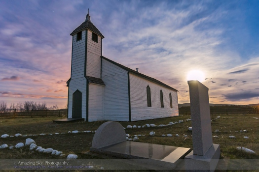 McDougall Church in Moonlight #1 (May 14, 2014)