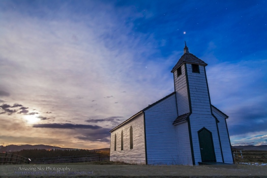 McDougall Church in Moonlight #2 (May 14, 2014)