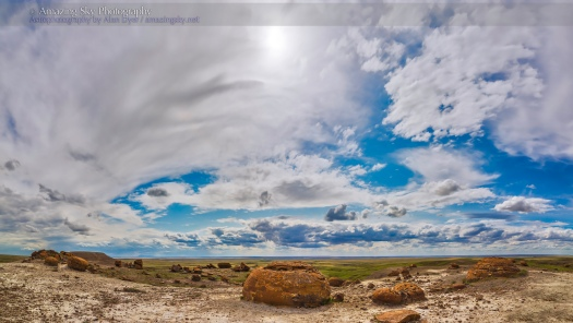 Red Rock Coulee Cloudscape Panorama