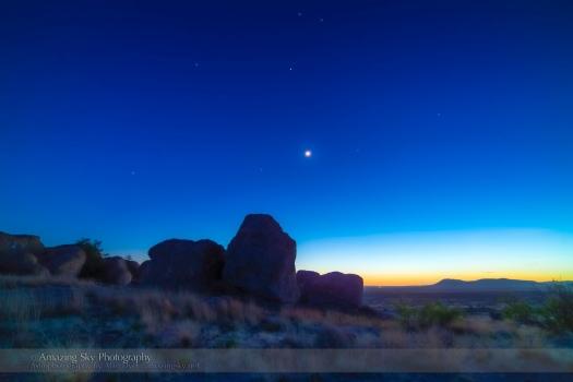Evening Twilight over the City of Rocks