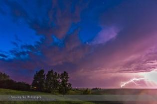 Lightning Bolt and Blue Sky