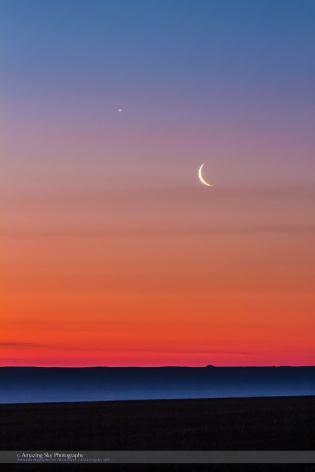 Moon and Venus Above the Mist