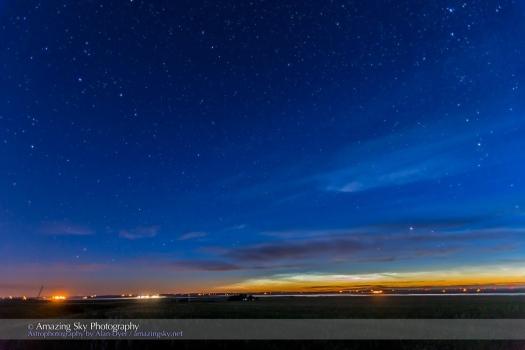 Noctilucent Clouds and Big Dipper