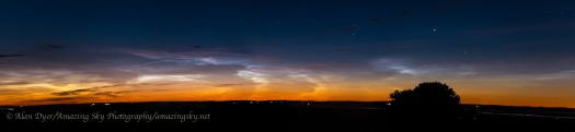 Noctilucent Clouds Panorama #1 (June 21-22, 2014)
