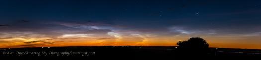 Noctilucent Clouds Panorama #1 (June 21-22, 2014)