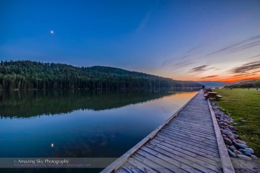 Reesor Lake Moon HDR