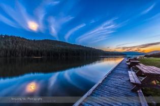 Moon on Reesor Lake #5