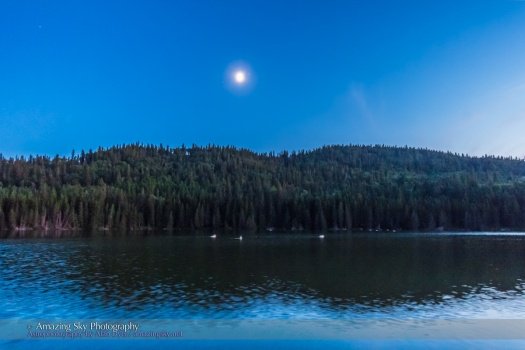 Moon on Reesor Lake #6