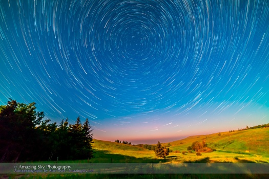 Reesor Ranch Circumpolar Star Trails