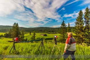 Shooting Time-Lapses at Cypress Hills Log Cabin