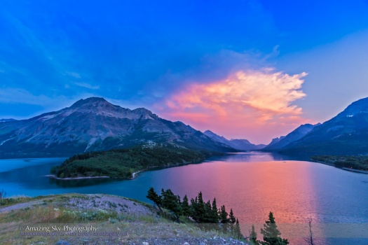 Waterton Lakes Sunset